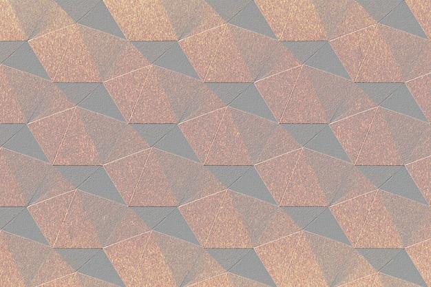 3d koperen papier ambachtelijke zevenhoekige patroon achtergrond