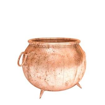 3d koperen pot