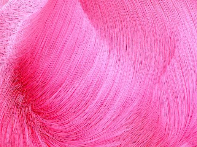 3d kunstachtergrond met roze krullende haren