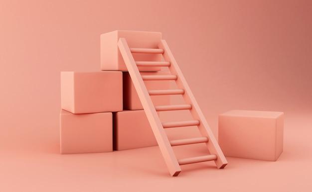 3d-ladder. bedrijfsconcept.