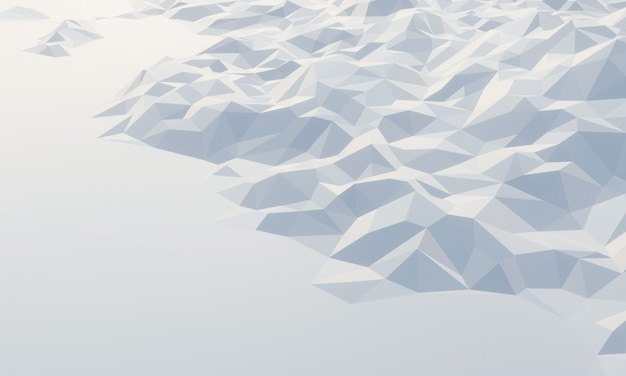 3d lage polygoon ijsberg.