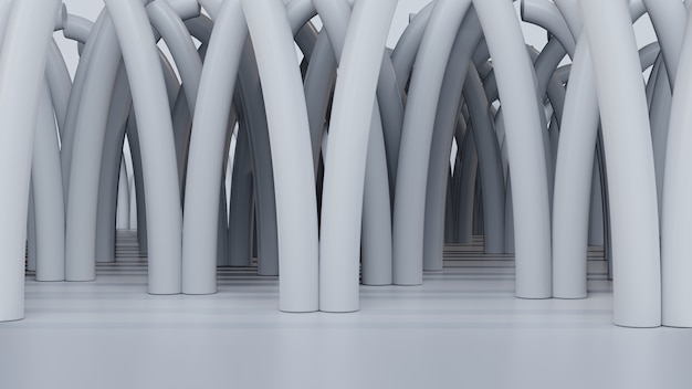 3d-lege abstracte boom achtergrond