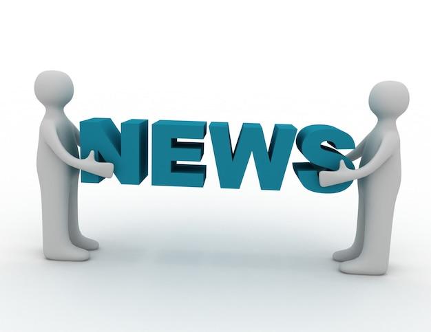 3d-man en woord nieuws
