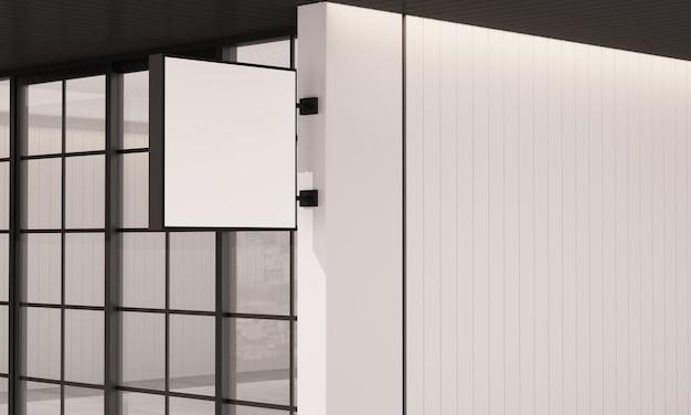 3d mockup achtergrond, vierkante lichtbak met kopie ruimte, 3d-rendering.
