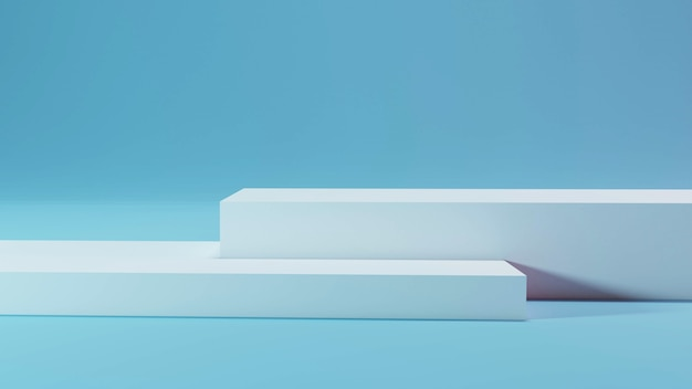 3d-mockup voetstuk van platform display blok staan podium op zacht licht kamer 3d-rendering