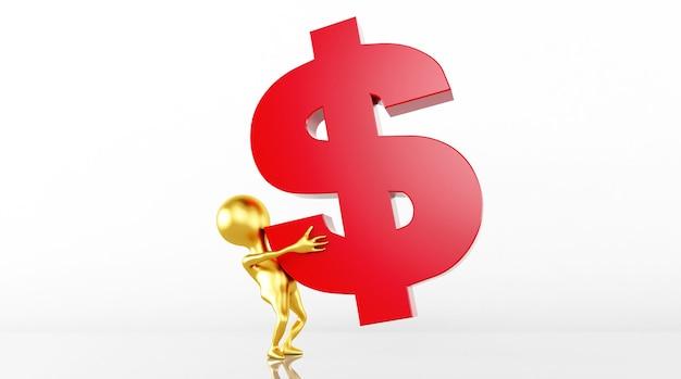 3d-modelweergave verhoogt de valutawaarde