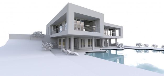3d modern huis