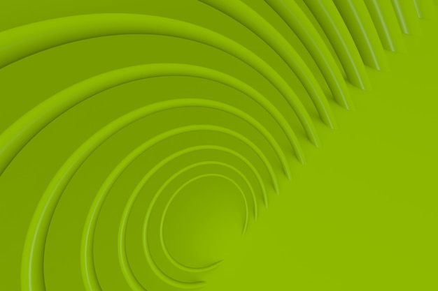 3d-moderne achtergrond met groene cirkel