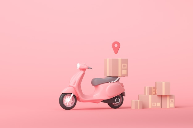 3d online express scooterserviceconcept