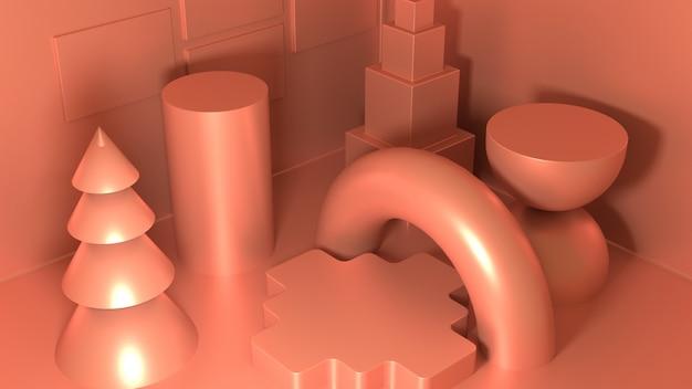 3d-ontwerp met verschillende vormen