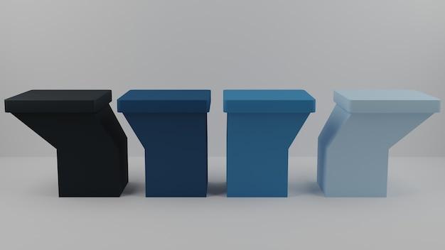 3d-pastel combineert gekleurd presentatieblok