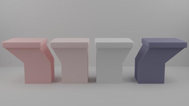 3d pastelkleurig presentatieblok