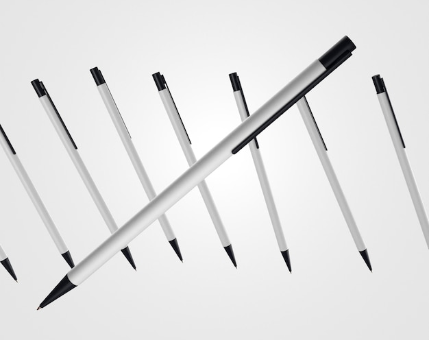3d-pen met meer op de achtergrond