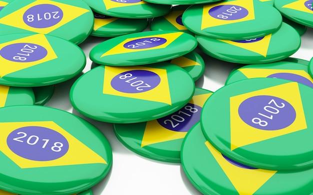 3d pin elections 2018. brazilië stemmen.