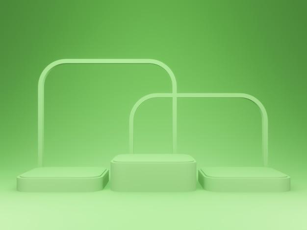 3d productstandaard. groen podium.