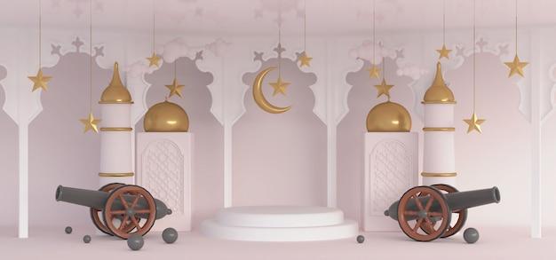 3d ramadan premium scene islamitisch