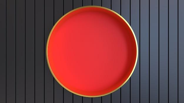 3d render abstract helder sappig achtergrond behang studio licht verlichting goud rood zwart
