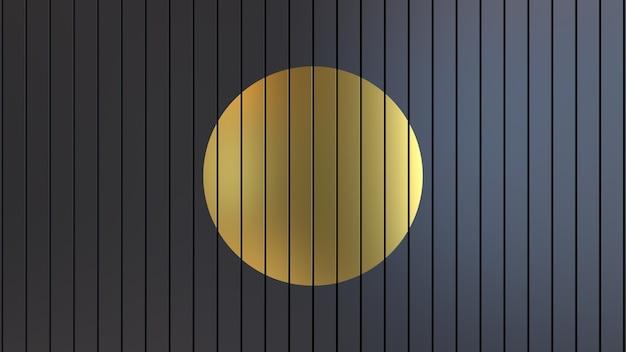 3d render abstract helder sappig achtergrond behang studio licht verlichting goud zwart
