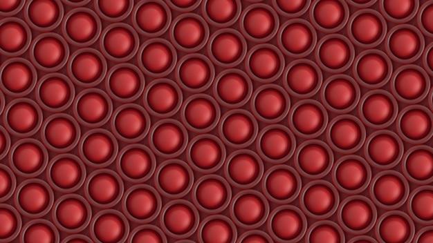 3d render abstract patroon van ronde vormen