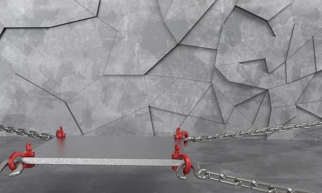 3d render abstracte achtergrond lege podium, voetstuk, scène