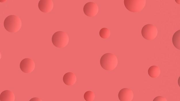 3d render abstracte achtergrond met cirkels