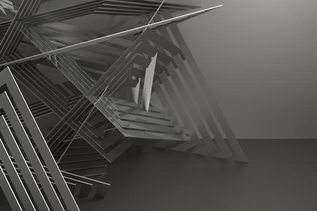 3d render abstracte achtergrond voor auto