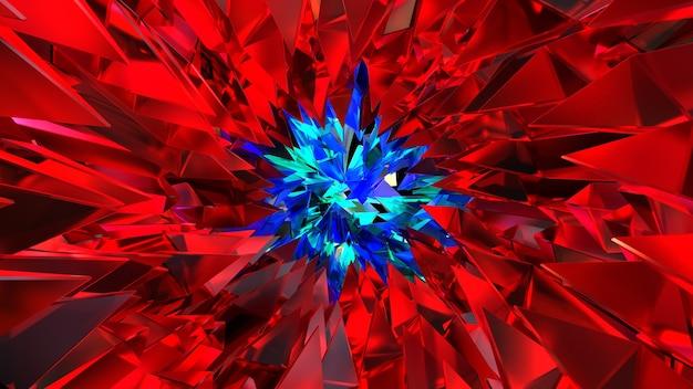 3d render abstracte afbeelding van glaskristallen