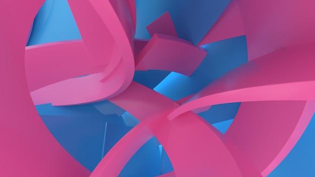 3d render abstracte compositie mat