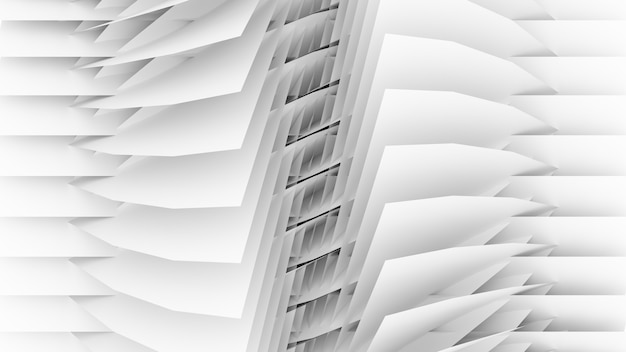 3d render abstracte compositie wit geometrisch