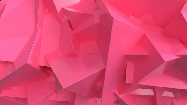 3d render abstracte roze achtergrond van geometrische vormen