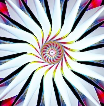 3d render abstracte surrealistische symmetrie bloem yoga of mandala symbool