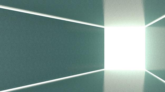 3d render abstracte verlichting in rechthoekige vorm