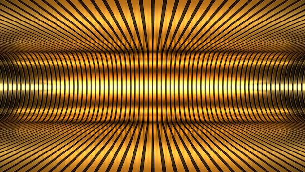 3d render achtergrond behang abstractie goud zwart gouden tunnel licht verlichting diepte