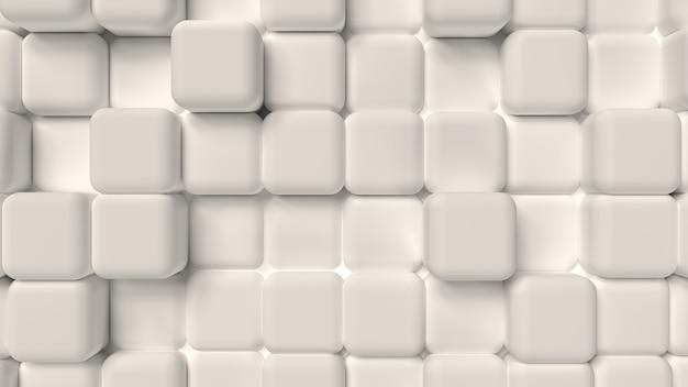 3d render achtergrond van zachte kubieke witte vormen