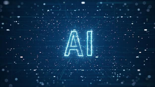 3d render ai kunstmatige technologie digitale data concept