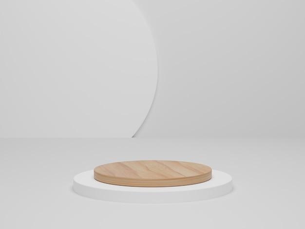 3d render. bespotten voor weergave van cosmetische producten, podium, podiumvoetstuk. abstracte minimale scène met geometrische vormen