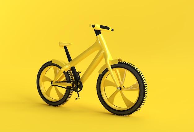 3d render concept van moderne fietsen 3d kunst ontwerp illustratie.