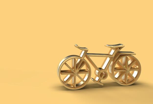3d render concept van moderne fietsen 3d-kunstontwerp flyer poster illustratie.