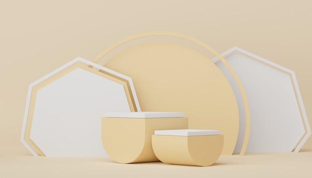 3d render display podium voor product- en cosmetische presentatie. minimale scène voor reclame.
