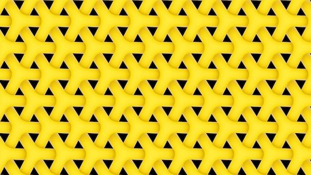 3d render geel herhalend patroon achtergrondbehang