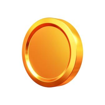 3d render gouden munten contant geld of geld valuta op gouden achtergrond