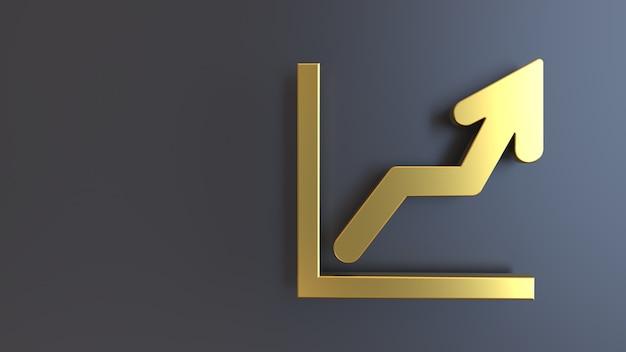 3d render gouden symbool hoge waardering