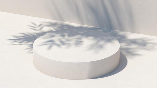 3d render illustratie. abstracte cosmetische background.podium lichte aard voor productpresentatie.