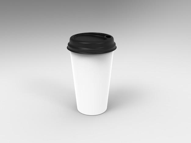 3d render illustratie mockup koffie of thee dop