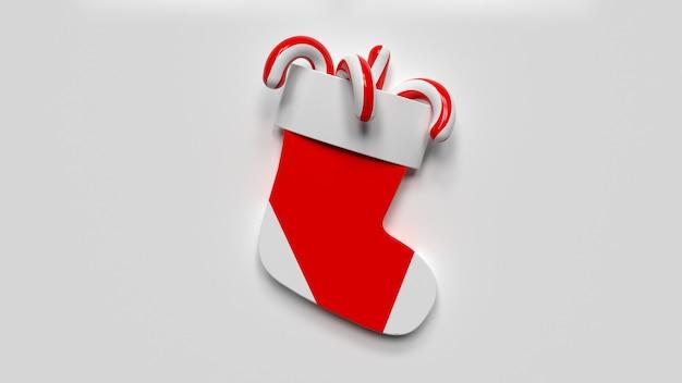 3d render kerstsok icoon