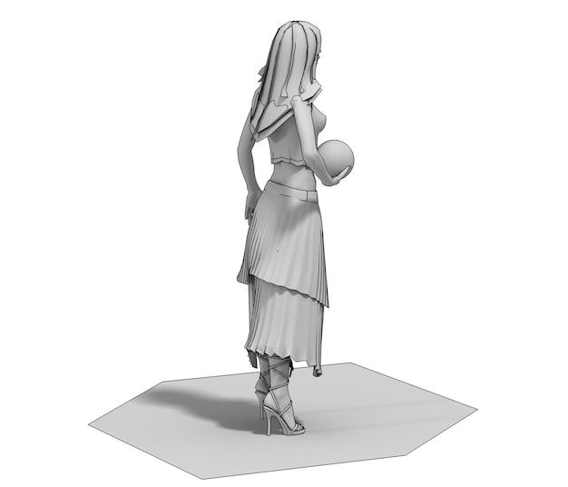 3d render menselijk karakter illustratie