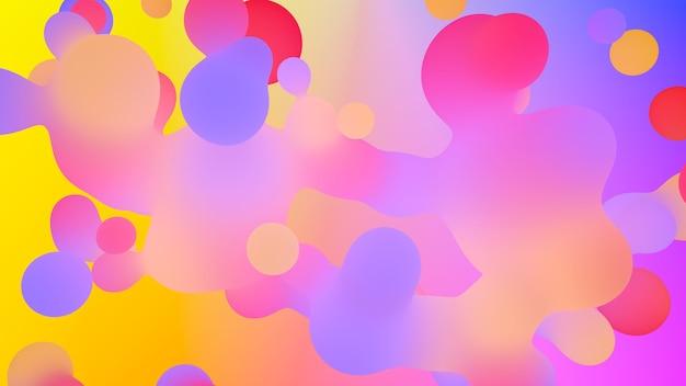 3d render moderne abstracte achtergrond. levendig verzadigd kleurenpalet. eenvoudige vormen. achtergrond voor posters, banners, presentaties.
