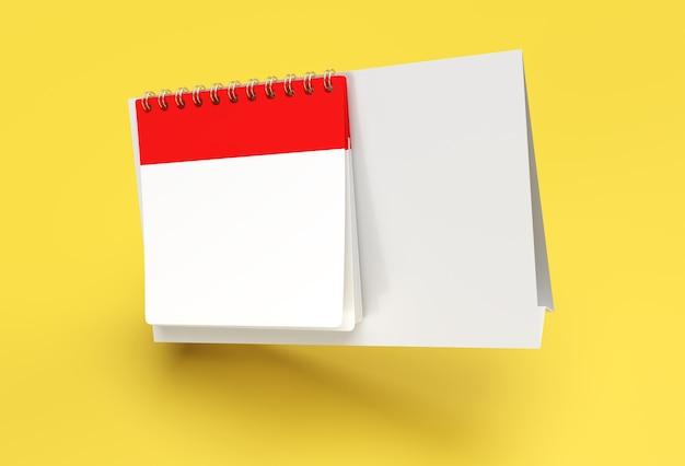 3d render notebook mock-up met schone blanco voor ontwerp en reclame, 3d illustratie perspectiefweergave.