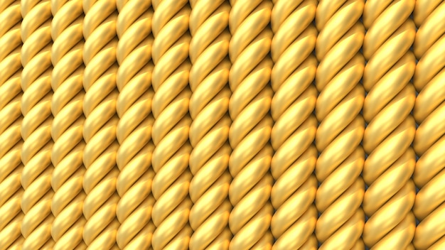 3d render patroon van gouden vormen