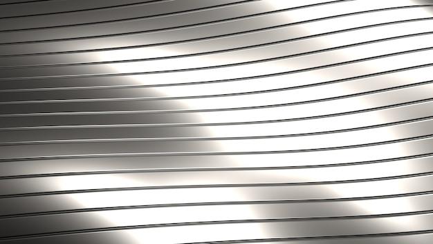 3d render patroon van metalen lijnen